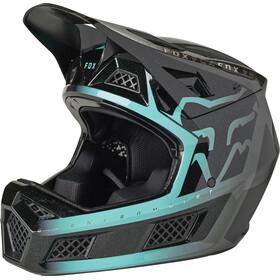 Fox Rampage Pro Carbon MIPS Cali Casco Uomo, nero/turchese